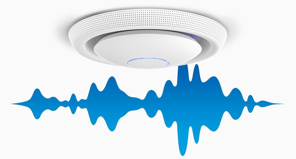 UniFi AC - встроенные динамики и микрофон