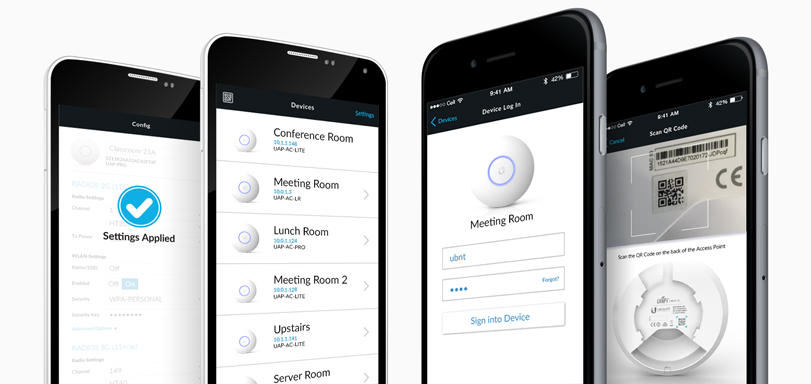 UniFi AC - приложение для смартфонов