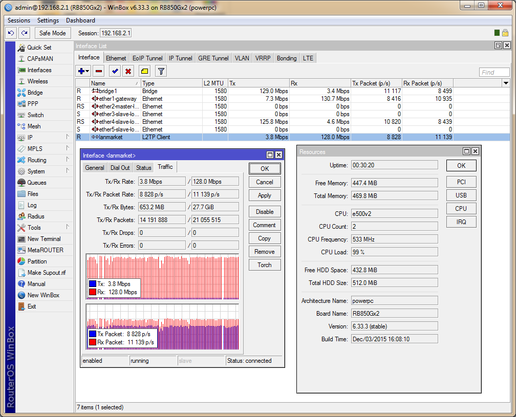 RB850Gx2, L2TP MPPE 128-bit
