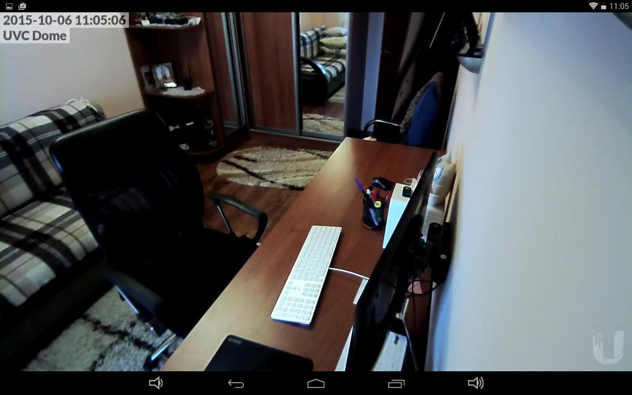 UniFi Video Camera Dome полноэкранный Live View в приложение на андроид