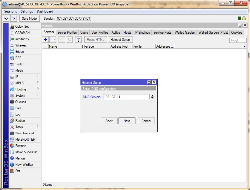 указываем IP SMTP-сервера