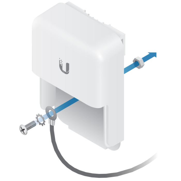 Ethernet Surge Protector использование самореза для грозозащиты