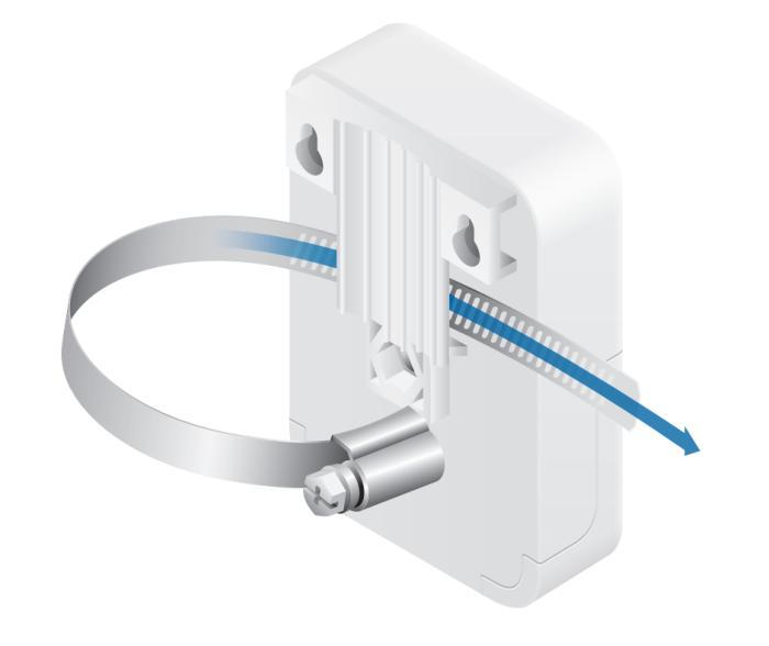 Ethernet Surge Protector вид крепления с помощью хомута