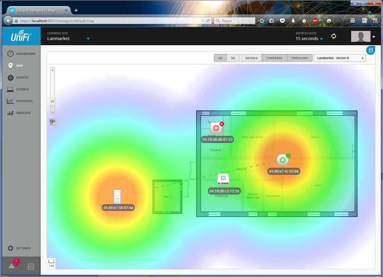 UniFi Controller подключение точек доступа