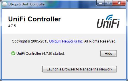 UniFi Controller старт программы