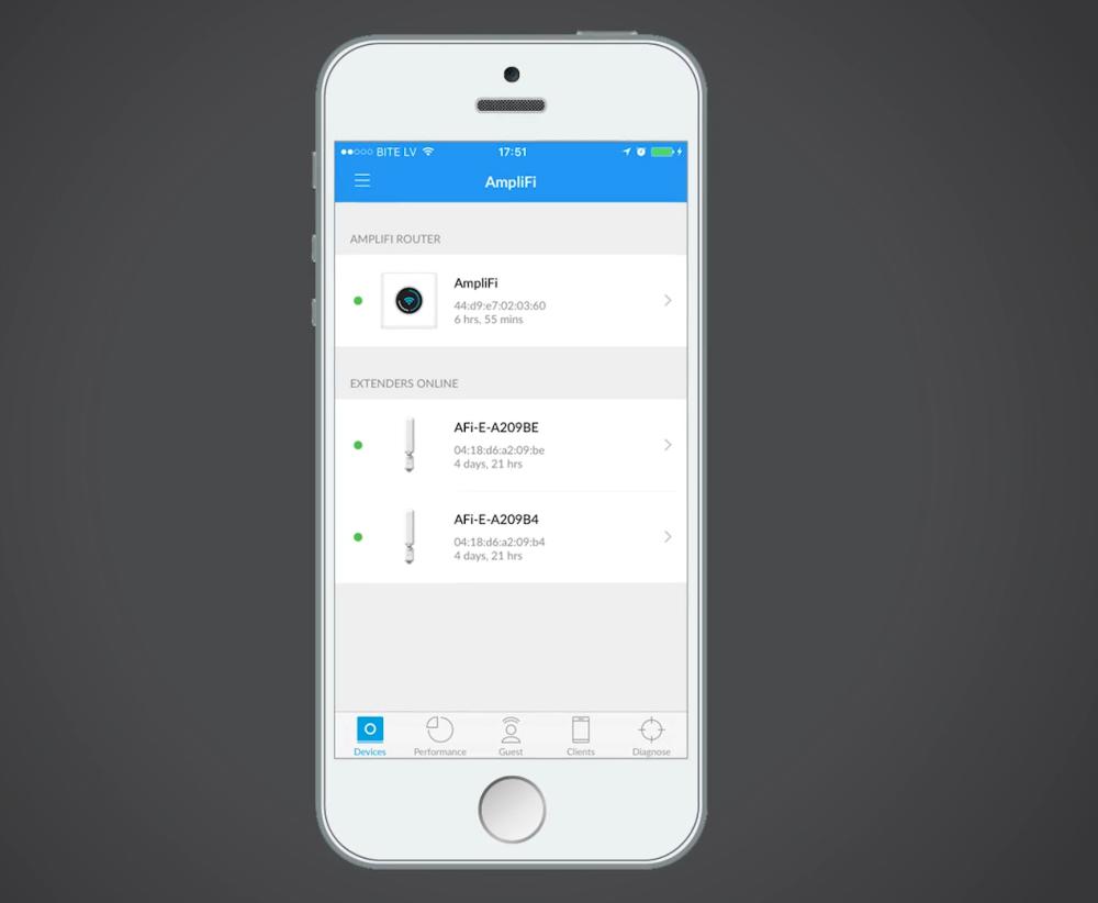 AmpliFi для iOS и Android