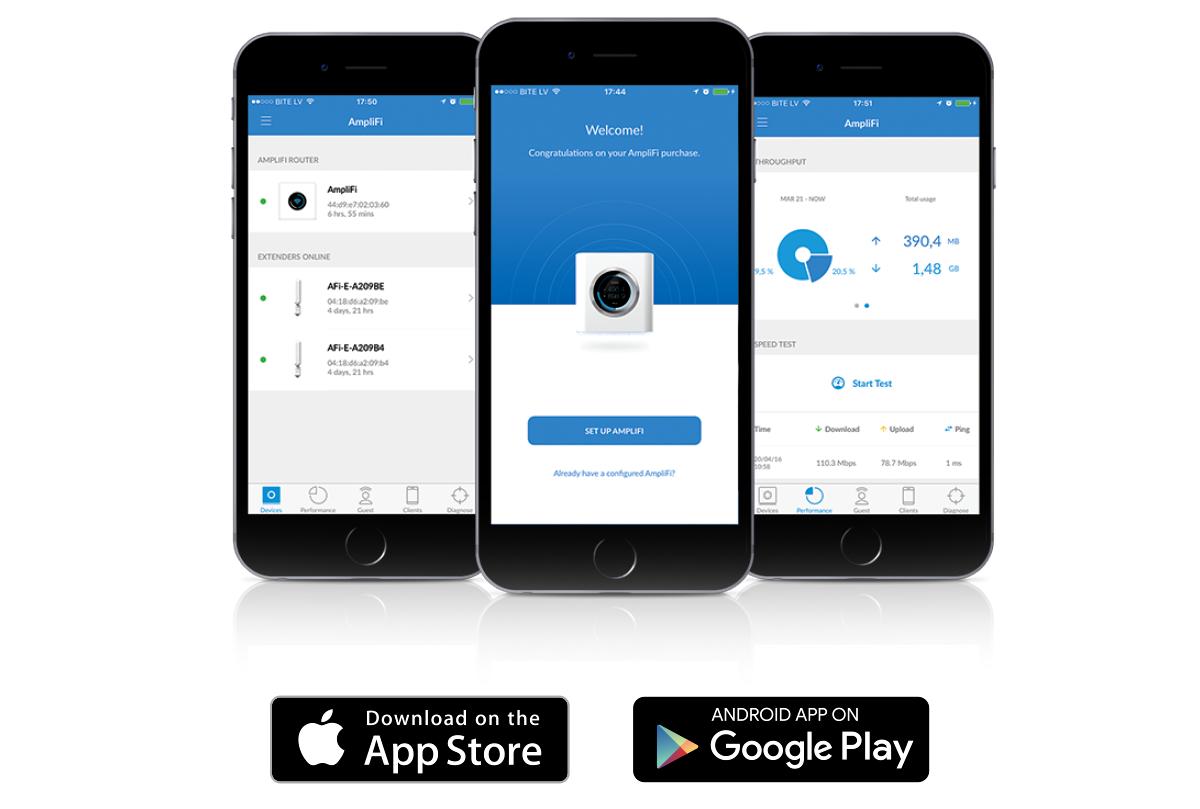 Приложение AmpliFi для iOS и Android