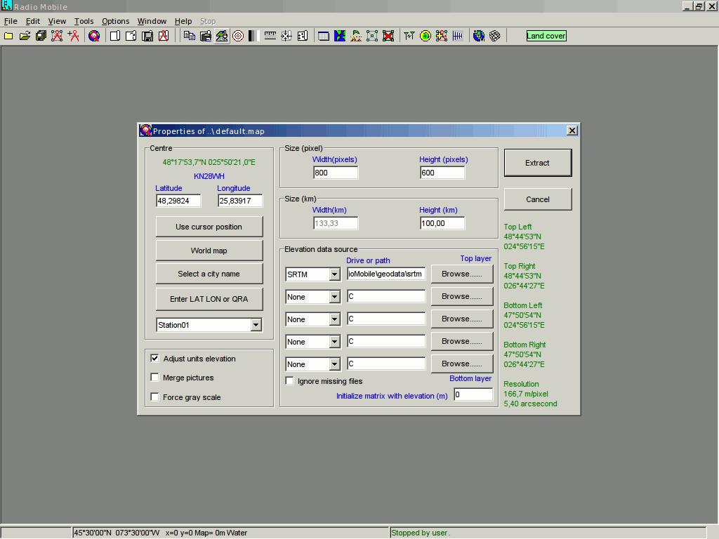 radio mobile замена сервера в случае ошибки
