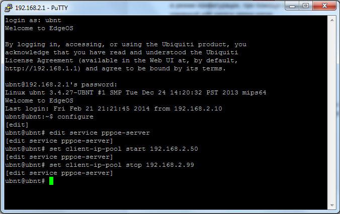 pic 2 Ubiquiti EdgeOS: настройка PPPoE сервера
