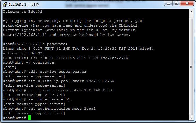 pic 4 Ubiquiti EdgeOS: настройка PPPoE сервера