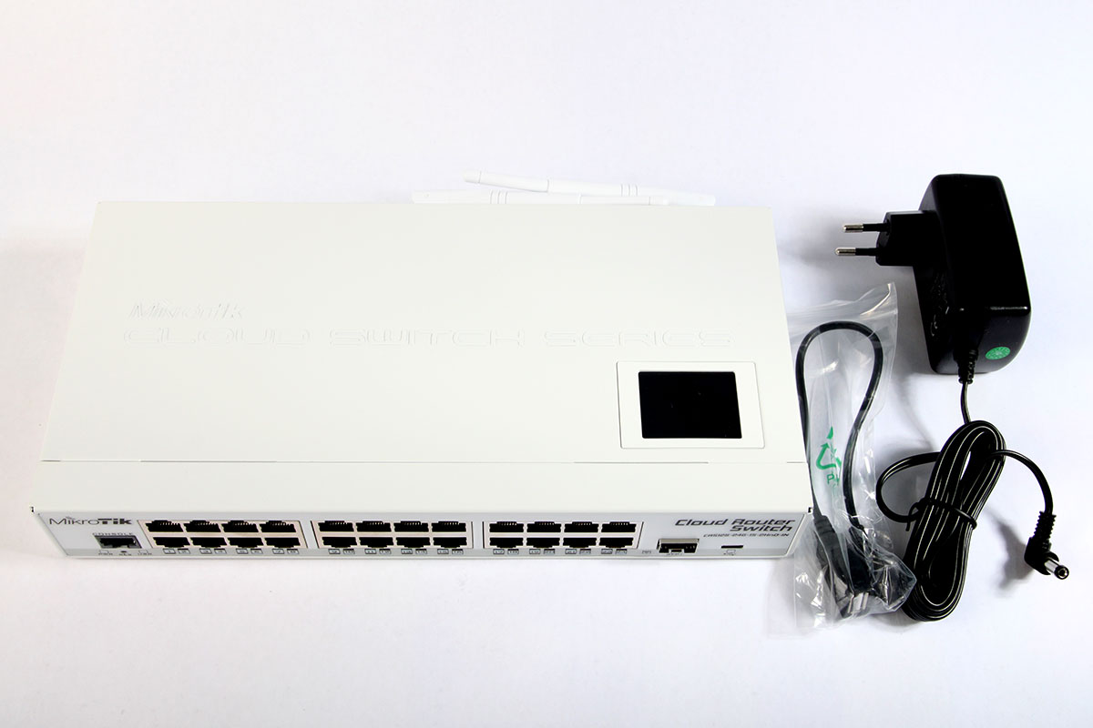 Комплект поставки Mikrotik CRS125-24G-1S-2HnD-IN