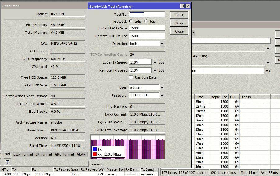Пропускная способность ePMP 1000, 40 МГц, Flexible, UDP дуплекс, 17 км