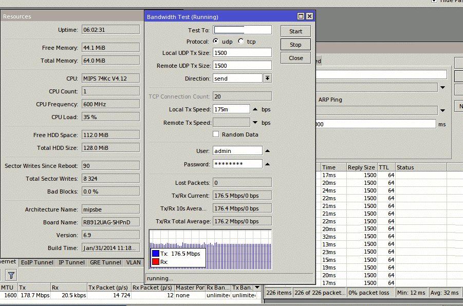 Пропускная способность ePMP 1000, 40 МГц, Flexible, Downlink UDP симплекс , 17 км