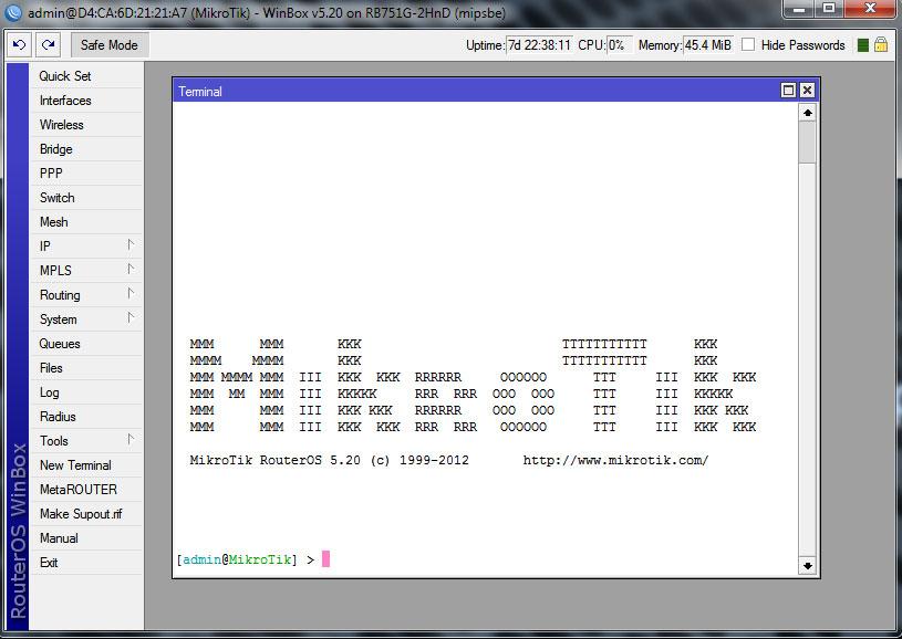 Mikrotik Router OS - описание и возможности. Winbox