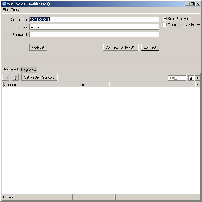 Открываем программу Winbox