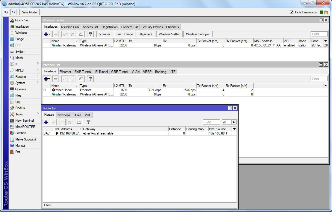 Программное обеспечение QRT-2 Mikrotik