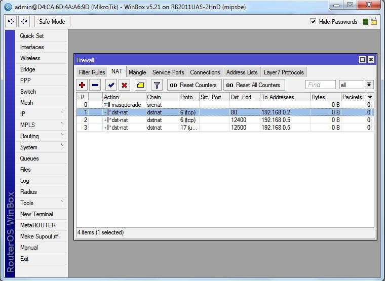 Mikrotik RouterOS NAT